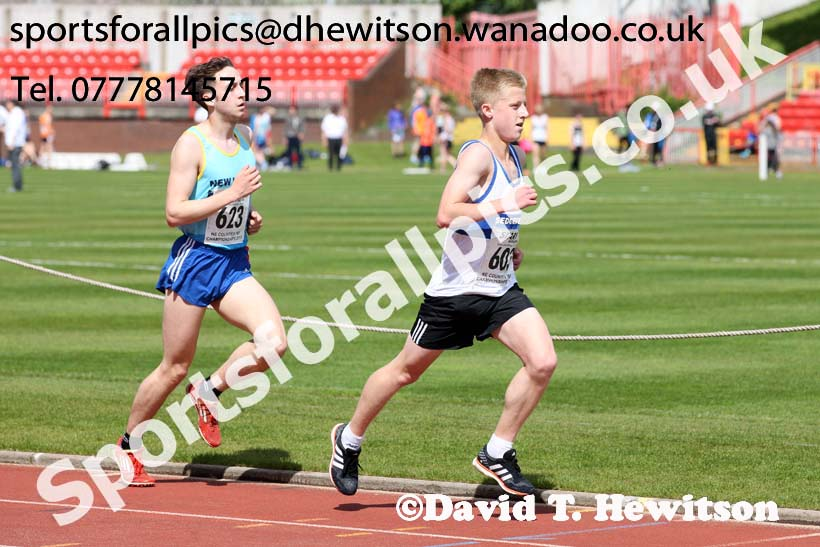 Mens under-20s 5000 metres, North Eastern Champs, Gateshead Stadium. Photo: David T. Hewitson/Sports for All Pics