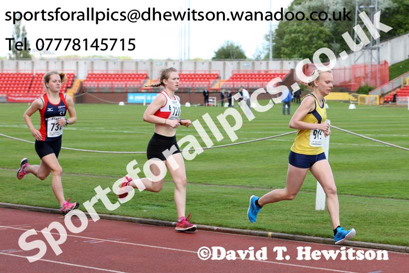 Womens senior and under-20s 5000 metres, North Eastern Champs, Gateshead Stadium. Photo: David T. Hewitson/Sports for All Pics