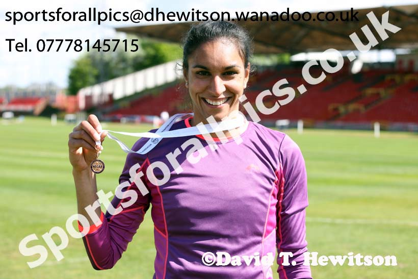 Womens senior 400 metres hurdles, North Eastern Champs, Gateshead Stadium. Photo: David T. Hewitson/Sports for All Pics