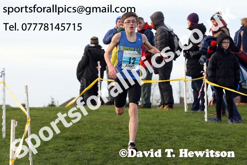 Boys under-13 North Eastern Cross Country, Redcar. Photo:  David T. Hewitson/Sports for All Pics