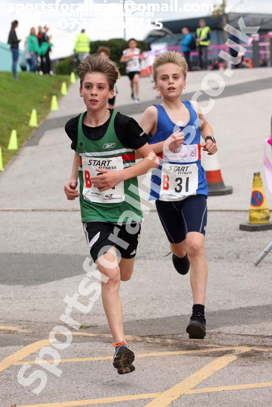 Boys under-13s 3 stage relay, Northern Senior 6 and 4 and Junior Stage Road Relays, SportsCity, Manchester. Photo:  David T. Hewitson/Sports for All Pics