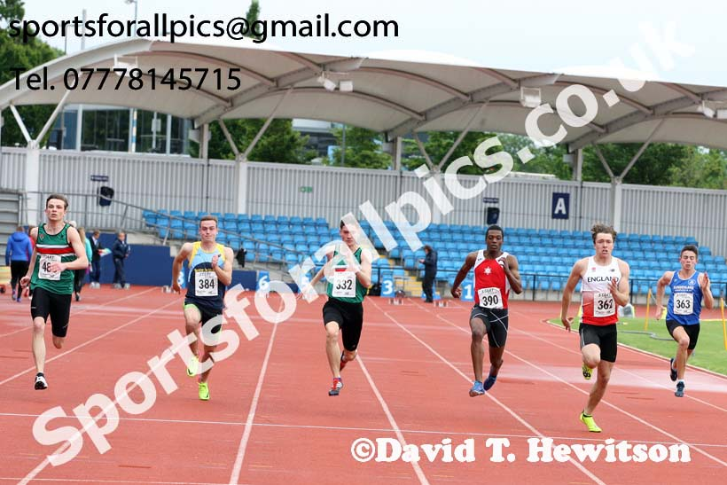 Mens under-20s 100 metres, Northern Senior and Under-20s Champs., SportsCity, Manchester. Photo: David T. Hewitson/Sports for All Pics