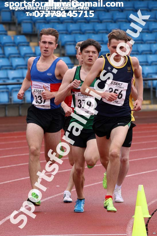 Mens under-20s 1500 metres, Northern Senior and Under-20s Champs., SportsCity, Manchester. Photo: David T. Hewitson/Sports for All Pics
