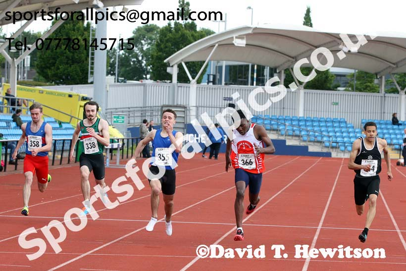 Mens under-20s 200 metres, Northern Senior and Under-20s Champs., SportsCity, Manchester. Photo: David T. Hewitson/Sports for All Pics