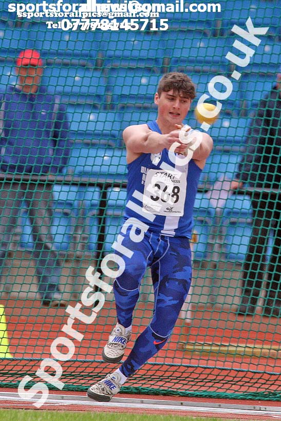 Mens under-20s hammer, Northern Senior and Under-20s Champs., SportsCity, Manchester. Photo: David T. Hewitson/Sports for All Pics