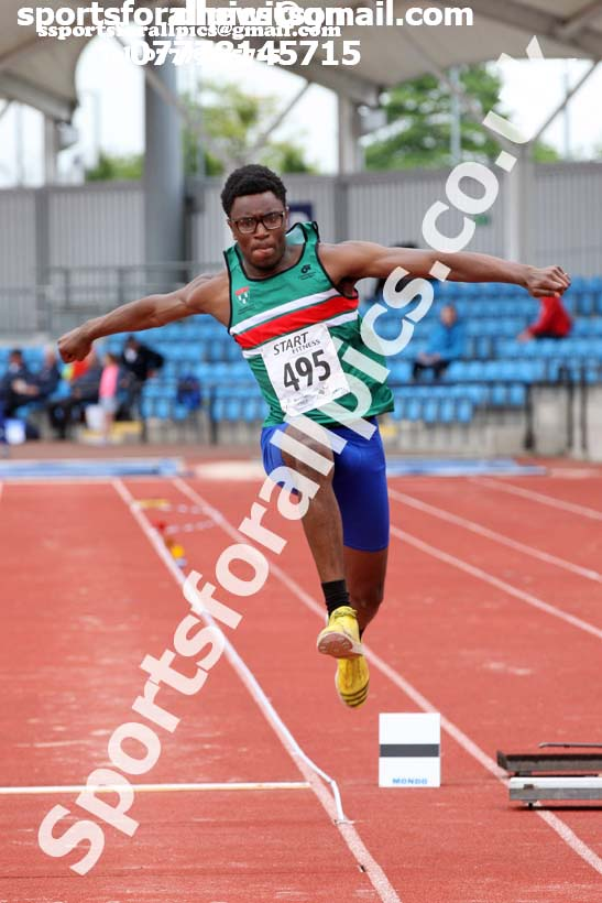Mens under-20s triple jump, Northern Senior and Under-20s Champs., SportsCity, Manchester. Photo: David T. Hewitson/Sports for All Pics