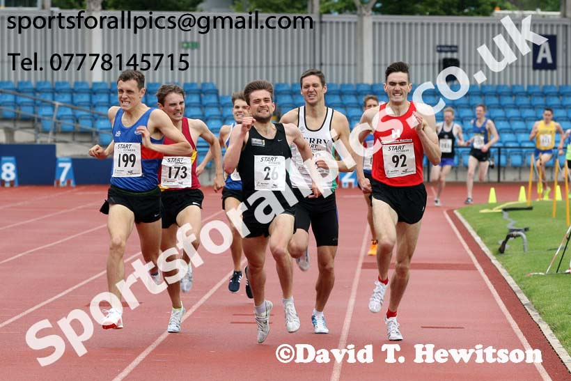 Senior mens 1500 metres, Northern Senior and Under-20s Champs., SportsCity, Manchester. Photo: David T. Hewitson/Sports for All Pics