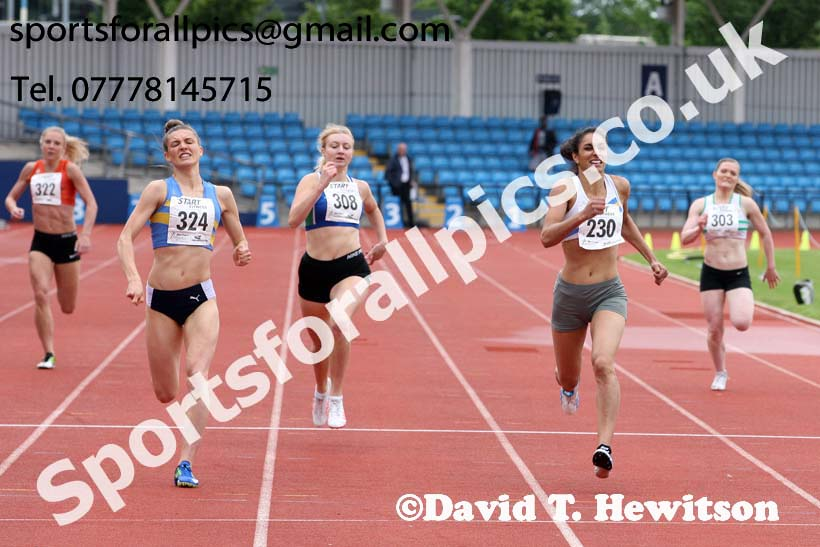 Senior womens 400 metres, Northern Senior and Under-20s Champs., SportsCity, Manchester. Photo: David T. Hewitson/Sports for All Pics