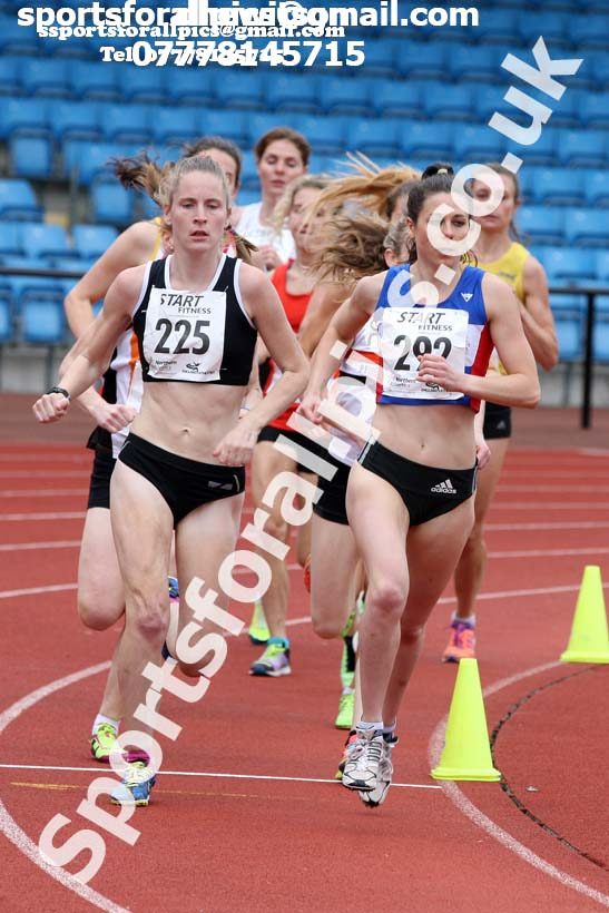 Senior womens 5000 metres, Northern Senior and Under-20s Champs., SportsCity, Manchester. Photo: David T. Hewitson/Sports for All Pics