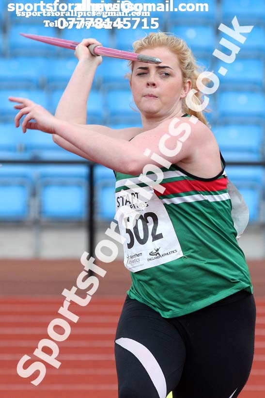 Senior womens javelin, Northern Senior and Under-20s Champs., SportsCity, Manchester. Photo: David T. Hewitson/Sports for All Pics
