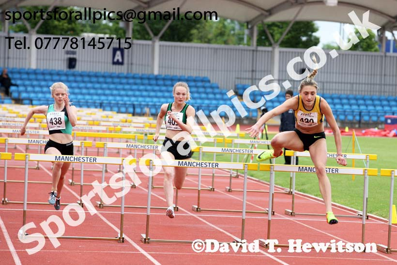 Womens under-20s 100 metres hurdles, Northern Senior and Under-20s Champs., SportsCity, Manchester. Photo: David T. Hewitson/Sports for All Pics