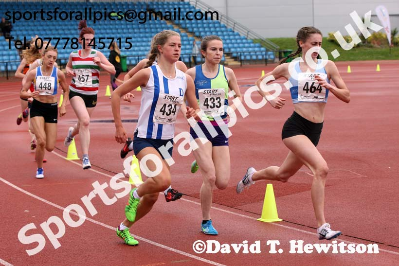 Womens under-20s 1500 metres, Northern Senior and Under-20s Champs., SportsCity, Manchester. Photo: David T. Hewitson/Sports for All Pics