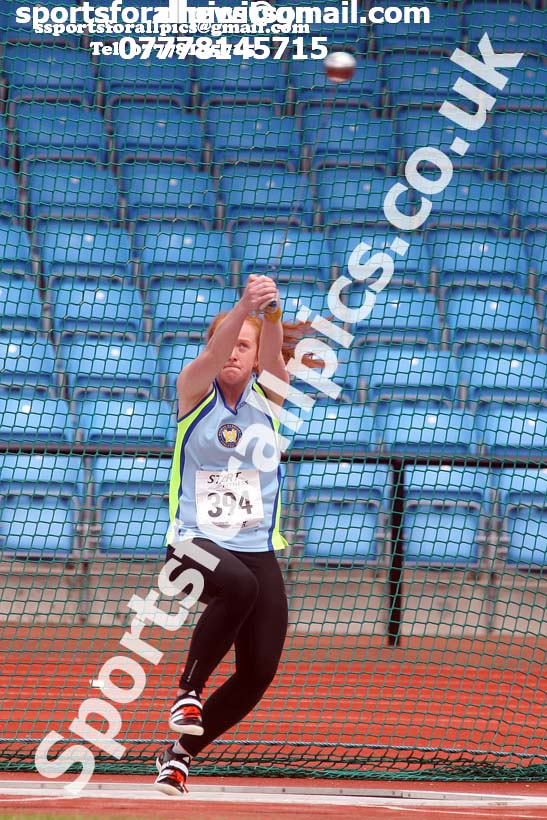 Womens under-20s hammer, Northern Senior and Under-20s Champs., SportsCity, Manchester. Photo: David T. Hewitson/Sports for All Pics