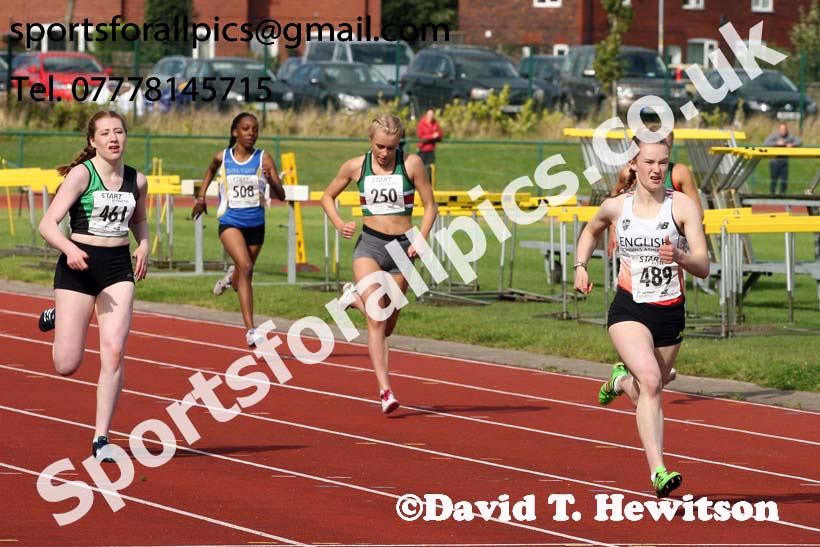Womens under-17s 300 metres hurdles, Northern Under-17s/U-15s and U13s Champs, Leigh Sports Village, Leigh. Photo: David T. Hewitson/Sports for All Pics