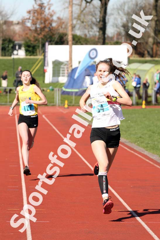 Womens Under-17s 5k Road Race, Stanley Park, Blackpool. Photo: David T. Hewitson/Sports for All Pics