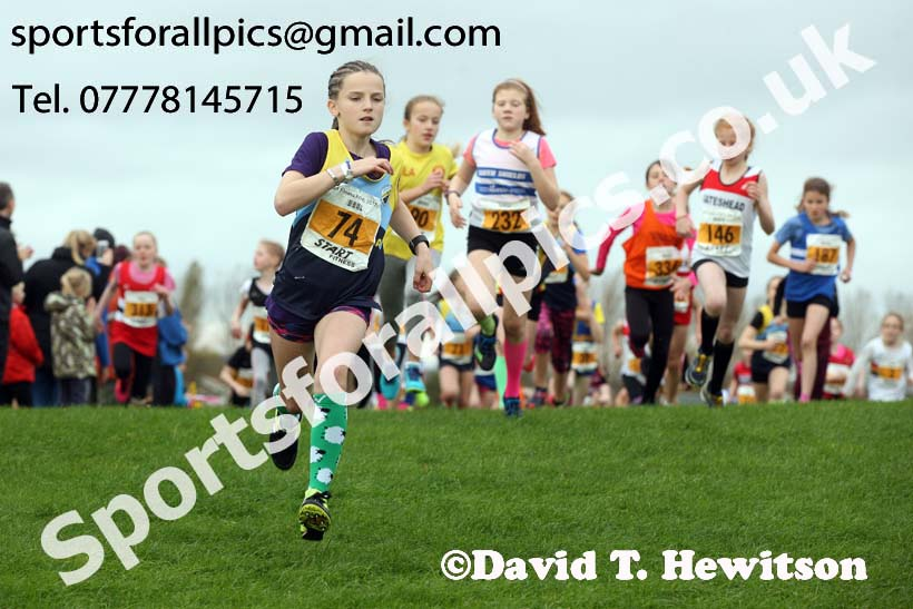 Girls under-11s, Sherman Cup and Davison Shield, Temple Park, South Shields. Photo:  David T. Hewitson/Sports for All Pics