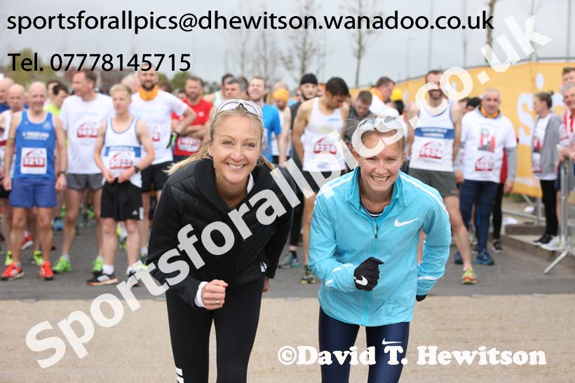 Paula Radcliffe and Aly Dixon, Sunderland City Half Marathon. Photo: David T. Hewitson/Sports for All Pics