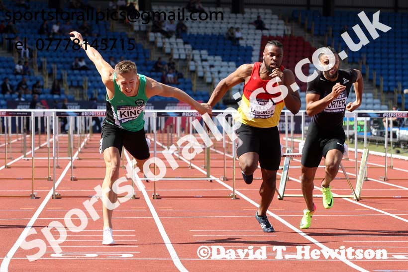 Mens 110 metres hurdles, British World Championship Team Trials, Alexander Stadium, Birmingham