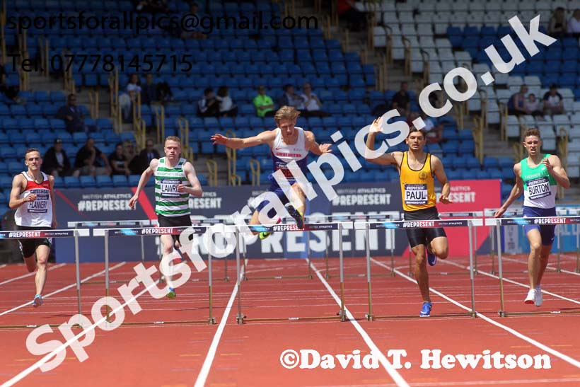 Mens 400 metres Hurdles, World Championship Team Trials, Alexander Stadium, Birmingham