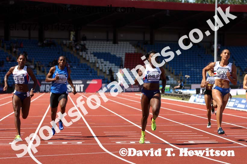 Womens 100 metres, World Championship Teamm Trials, Alexander Stadium, Birmingham