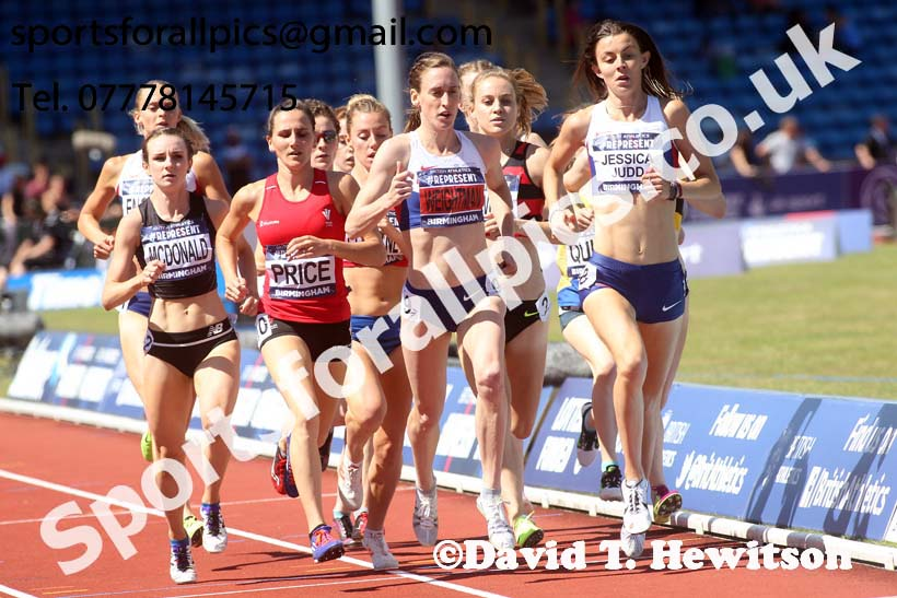 Womens 1500 metres, British World Championship Team Trials, Alexander Stadium, Birmingham