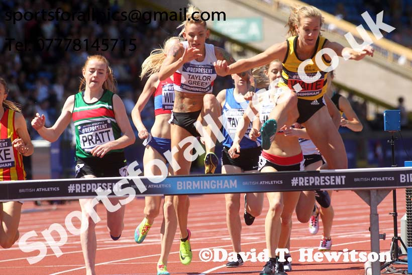 Womens 3000 metres steeplechase, World Championship Team Trials, Alexander Stadium, Birmingham