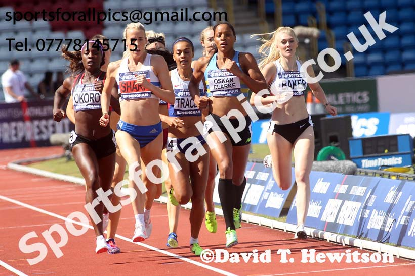 Womens 800 metres, British World Championship Team Trials, Alexander Stadium, Birmingham