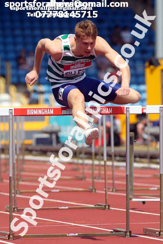 Mens 110 metres hurdles, Muller British Championships, Alexander Stadium, Birmingham. Photo: David T. Hewitson/Sports for All Pics