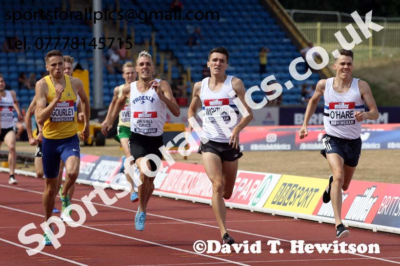 Mens 1500 metres, Muller British Championships, Alexander Stadium, Birmingham. Photo: David T. Hewitson/Sports for All Pics