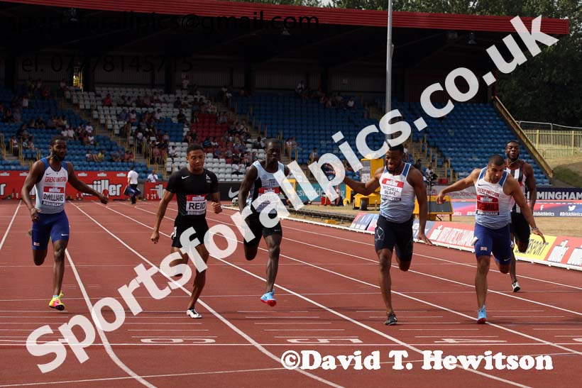 Mens 200 metres, Muller British Championships, Alexander Stadium, Birmingham. Photo: David T. Hewitson/Sports for All Pics