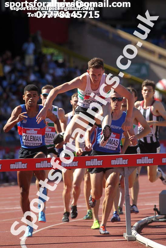 Mens 3000 metres steeplechase, Muller British Championships, Alexander Stadium, Birmingham. Photo: David T. Hewitson/Sports for All Pics