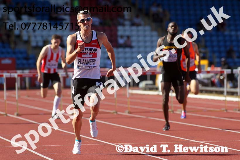 Mens 400 metres hurdles, Muller British Championships, Alexander Stadium, Birmingham. Photo: David T. Hewitson/Sports for All Pics