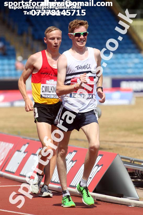 Mens 5000 metres walk, Muller British Championships, Alexander Stadium, Birmingham. Photo: David T. Hewitson/Sports for All Pics