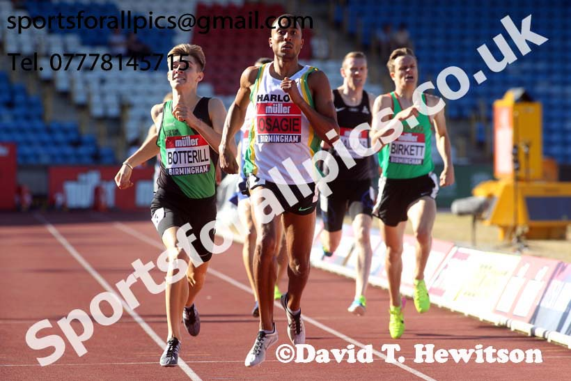 Mens 800 metres, Muller British Championships, Alexander Stadium, Birmingham. Photo: David T. Hewitson/Sports for All Pics