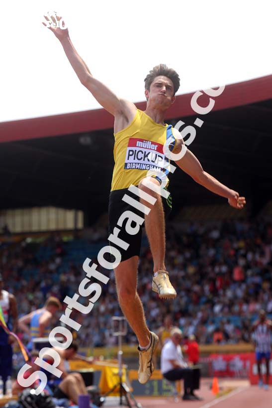 Mens long jump, Muller British Championships, Alexander Stadium, Birmingham. Photo: David T. Hewitson/Sports for All Pics