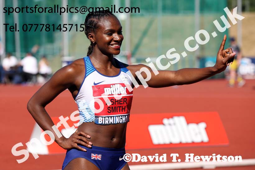 Womens 100 metres, Muller British Championships, Alexander Stadium, Birmingham. Photo: David T. Hewitson/Sports for All Pics