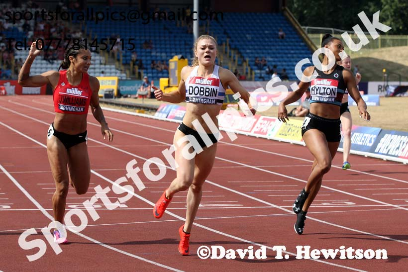 Womens 200 metres, Muller British Championships, Alexander Stadium, Birmingham. Photo: David T. Hewitson/Sports for All Pics
