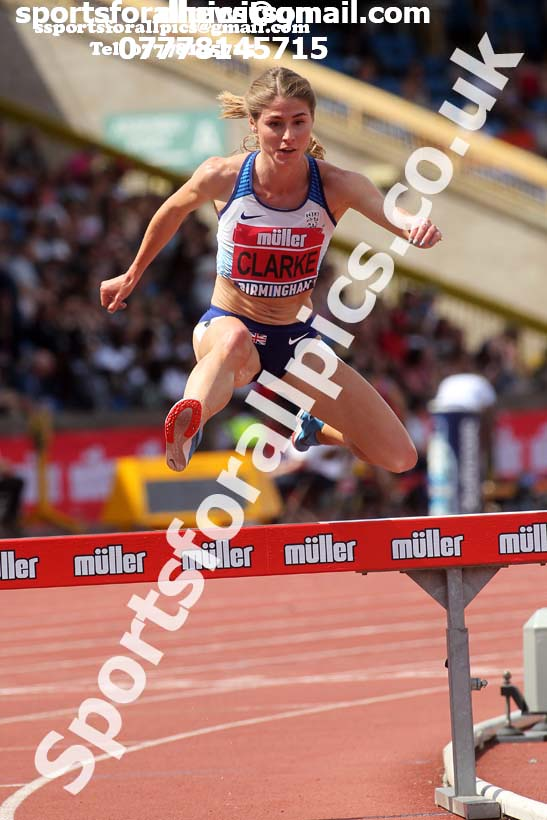 Womens 3000 metres steeplechase, Muller British Championships, Alexander Stadium, Birmingham. Photo: David T. Hewitson/Sports for All Pics