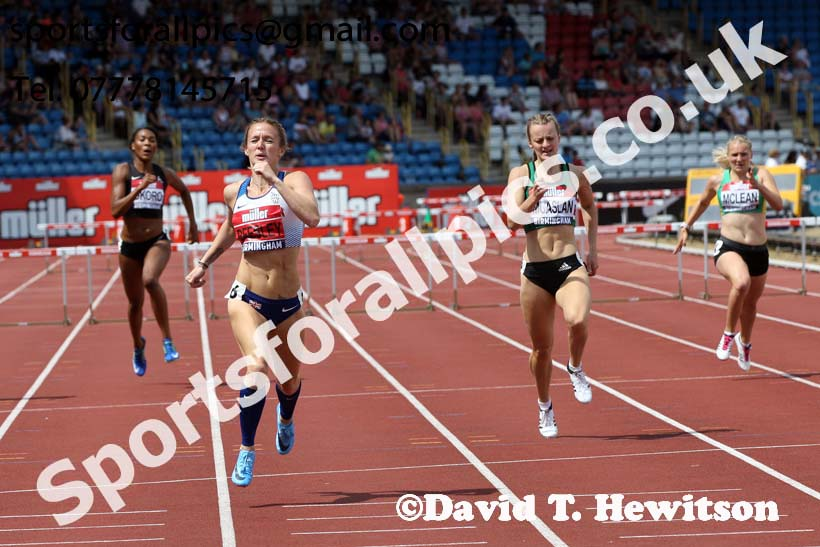 Womens 400 metres hurdles, Muller British Championships, Alexander Stadium, Birmingham. Photo: David T. Hewitson/Sports for All Pics