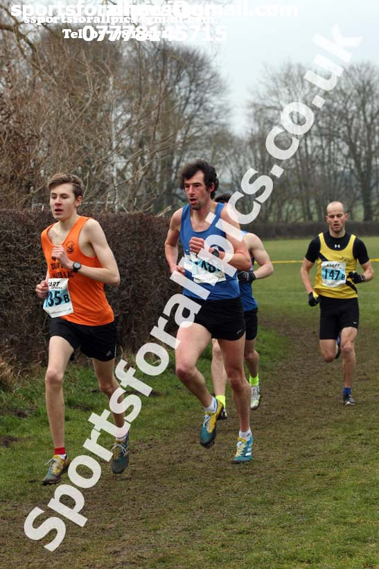 Senior mens 2018 Durham Cathedral Cross Country Relay. Photo:  David T. Hewitson/Sports for All Pics