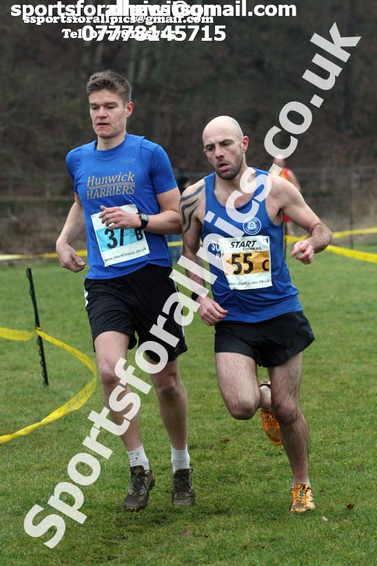 Veteran mens 2018 Durham Cathedral Cross Country Relays. Photo:  David T. Hewitson/Sports for All Pics