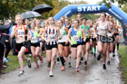 Womens under-17s 3 Stage Relay, 2018 ERRA 6 and 4 Stage and Youngsters Relays. Photo:  David T. Hewitson/Sports for All Pics
