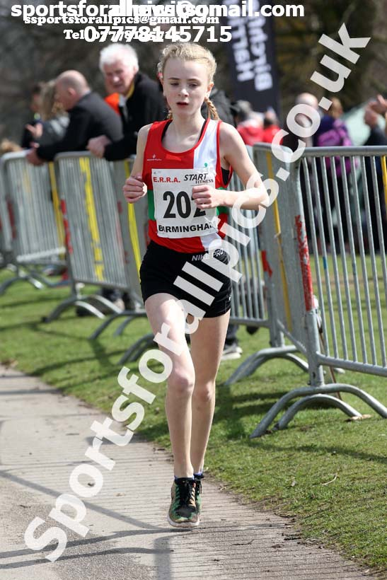 Girls under-15s 5k road race, 2018 ERRA Under-17s and Under-15s 5k Champs, Sutton Coldfield. Photo: David T. Hewitson/Sports for All Pics