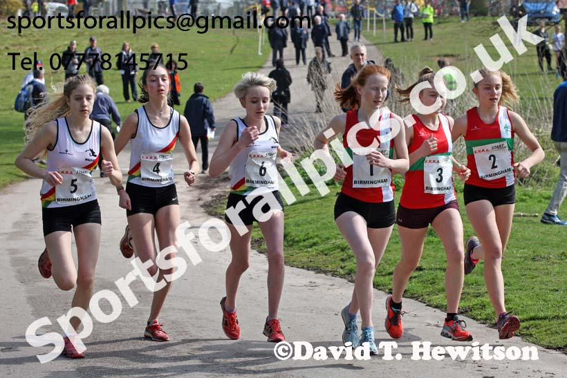 Womens under-17s 5k road race, 2018 ERRA Under-17s and Under-15s 5k Champs, Sutton Coldfield. Photo: David T. Hewitson/Sports for All Pics