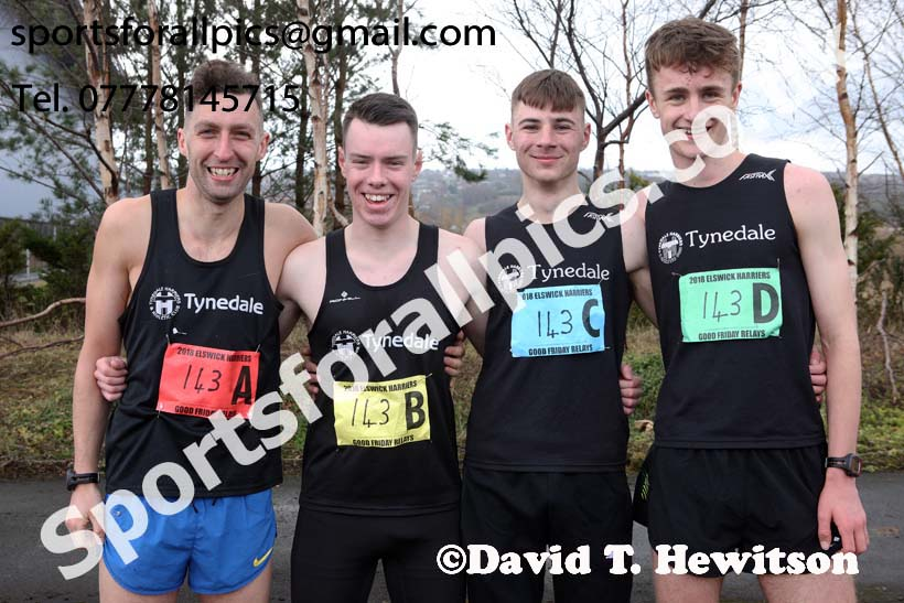 Senior mens Good Friday Elswick Harriers Relay, Newburn, Newcastle. Photo: David T. Hewitson/Sports for All Pics