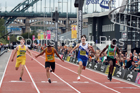 English Schools boys 150 metres, 2018 Great North CityGames. Photo: David T. Hewitson/Sports for All Pics