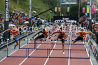 Mens 110 metres hurdles, 2018 Great North CityGames. Photo: David T. Hewitson/Sports for All Pics