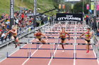 Womens 100 metres hurdles, 2018 Great North CityGames. Photo: David T. Hewitson/Sports for All Pics
