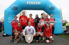 NSP with trophy, Heaton Memorial 10k Road Race, Newcastle Town Moor. Photo:  David T. Hewitson/Sports for All Pics
