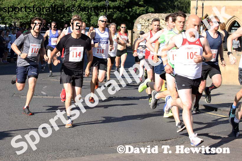 Hexham 10k, 2018 Hexham Half Marathon/10k5k. Photo: David T. Hewitson/Sports for All Pics